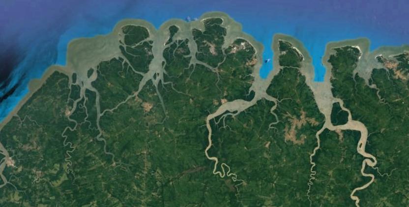 A conexão entre dois estuários